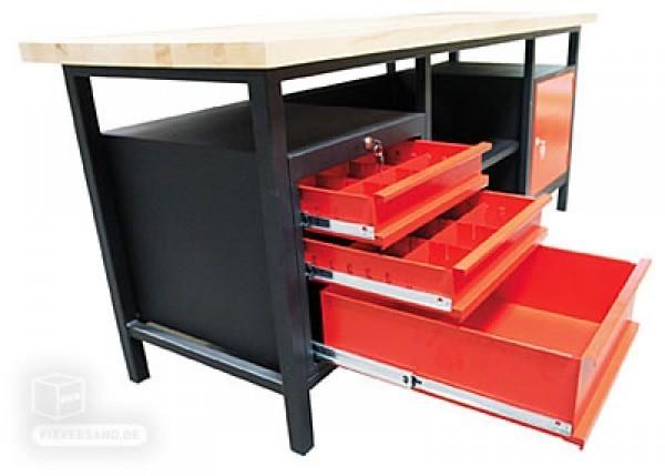 profi werkbank xxl 1 t rig 3 schubladen shop f r werkzeug. Black Bedroom Furniture Sets. Home Design Ideas