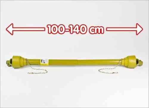 35 PS Gelenkwelle, Zapfwelle 100 - 140 cm