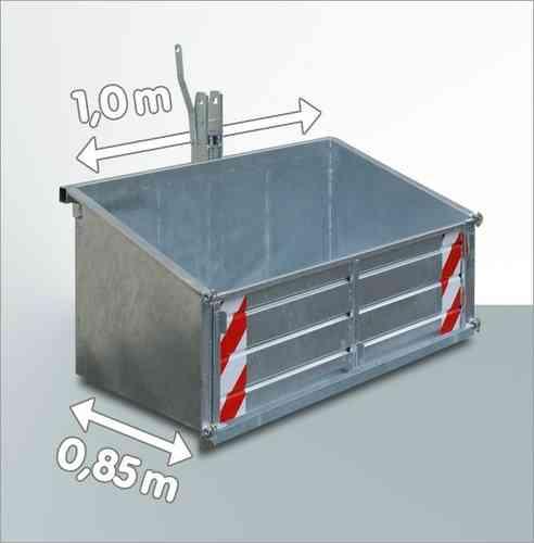 Heckcontainer f. Traktor verzinkt 100 x 85 cm