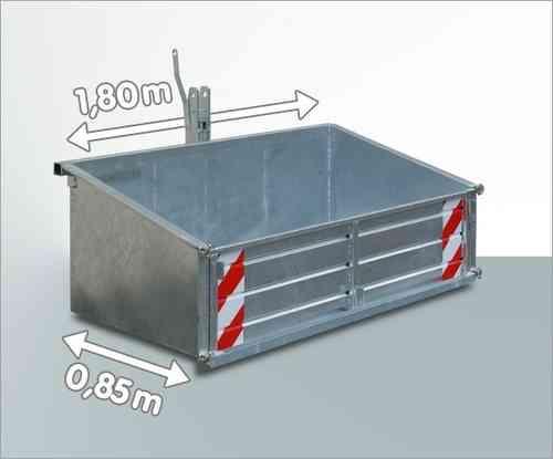 Heckcontainer f. Traktor verzinkt 180 x 85 cm