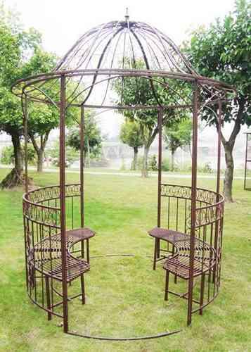 Gartenpavillon im Jugendstil Ø200, h295cm