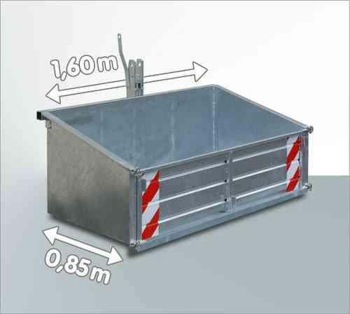 Heckcontainer f. Traktor verzinkt 160 x 85 cm