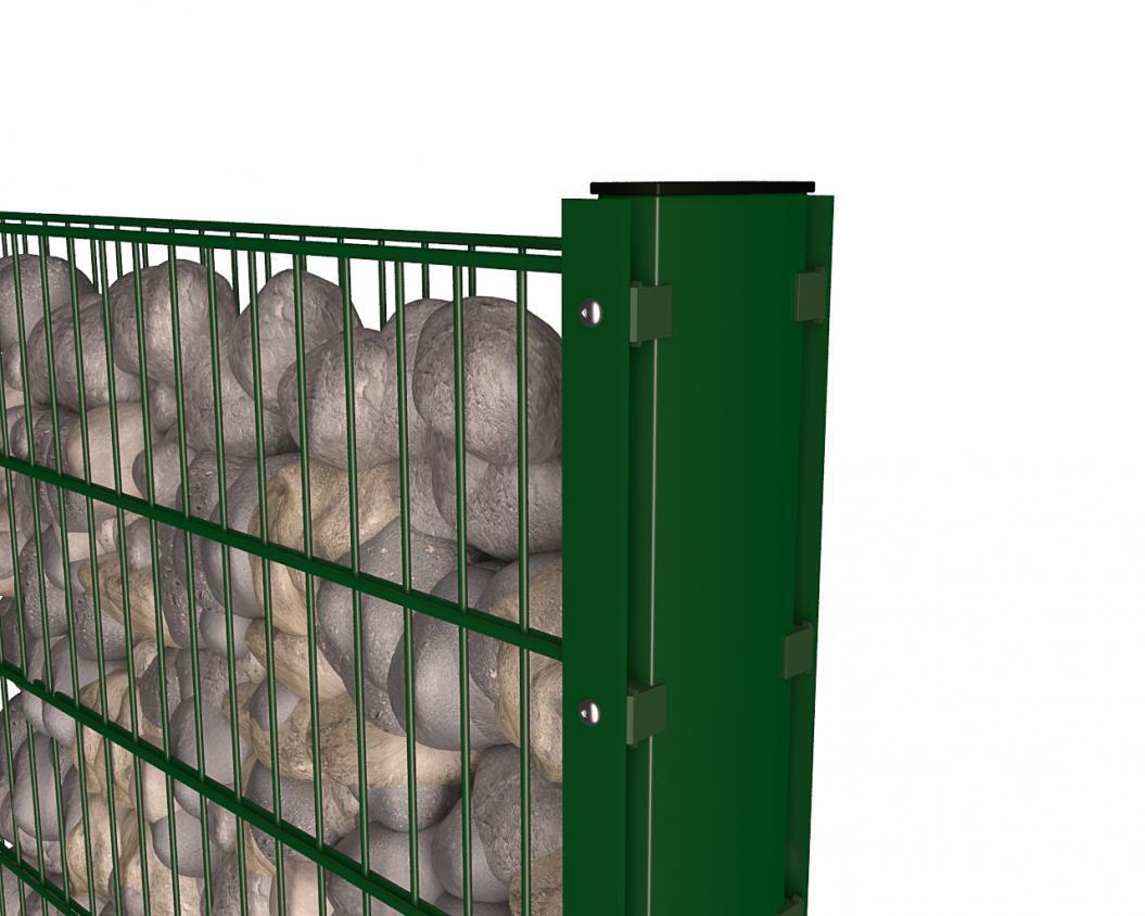 Top Pfosten für Doppelstabmatten von Gabionenzaun preiswert kaufen KL21